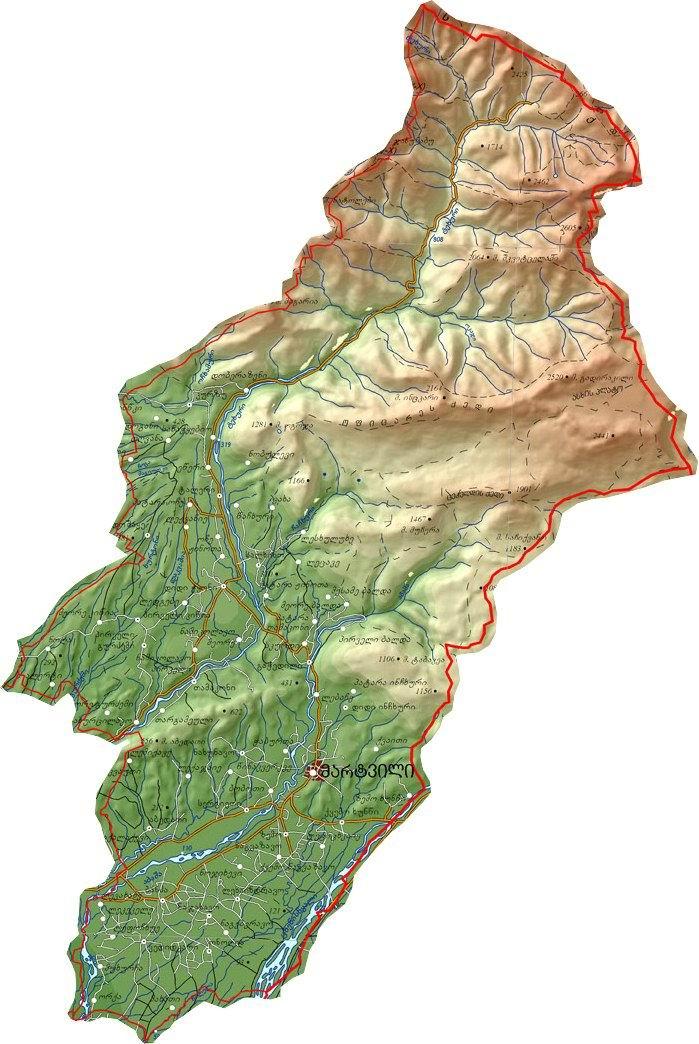 მუნიციპალიტეტის რუკა